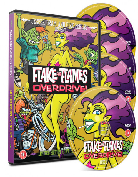 4 DVD Box Set Flake and Flames Overdrive