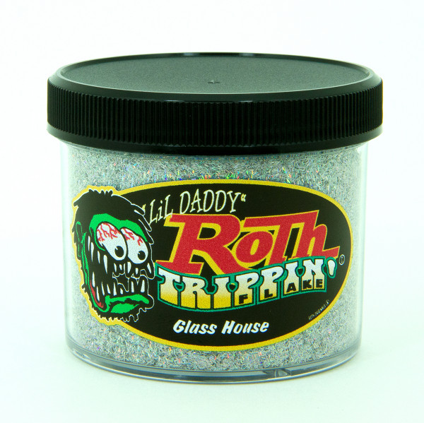 "Lil' Daddy Roth Metal Flake Trippin' ""Splinter Cut"" Glass House"