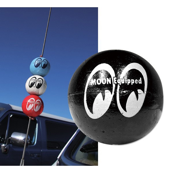 MOON Equipped Antenna Ball - Black