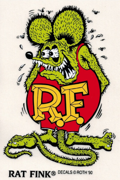 Rat Fink Standing Green Decal