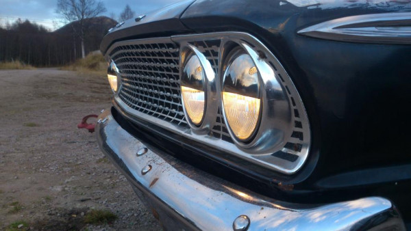 "5 3/4"" Chrome Half Moon Headlight Shield"