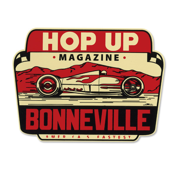 Hop Up Magazine Bonneville Water Slide Decal