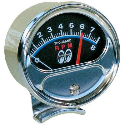 TACH 8000RPM with Moon Logo
