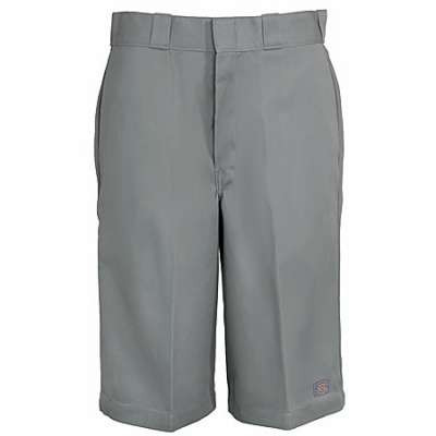"13"" Loose Fit Multi-Use Pocket Work Short Silver"