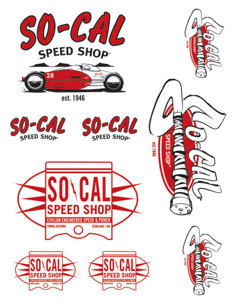 SO-CAL Speed Shop Belly Tank Decal Sheet