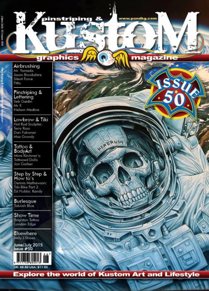 Pinstriping&Kustom Graphics Magazine Issue 50
