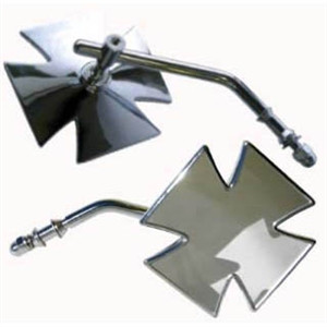 Motorcycle Maltese Cross Mirror