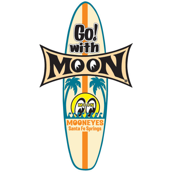 MOON Surfboard Sticker