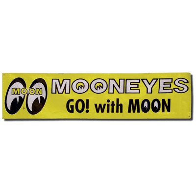 MOONEYES GO! WITH MOON Vinyl Banner