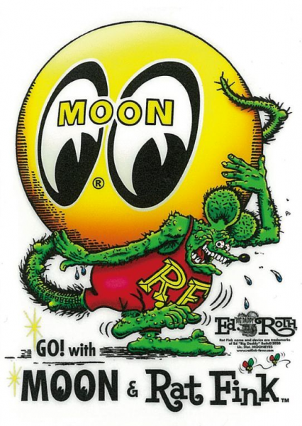 Rat Fink x MOON Eyeball Sticker