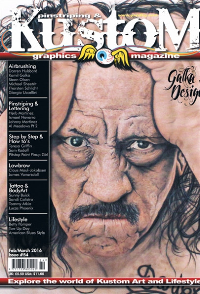 Pinstriping&Kustom Graphics Magazine Issue 54