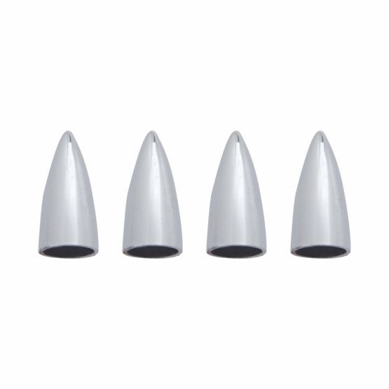 Chrom Bullet Valve Cap set of 4