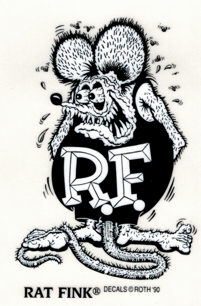 Rat Fink Standing Black Decal