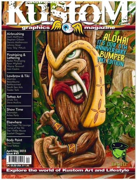 Pinstriping&Kustom Graphics Magazine Issue 49
