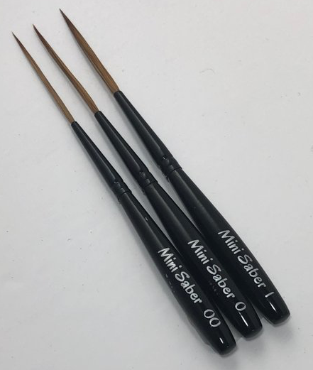 MACK-DAGO MINI SABER 3 BRUSH SET