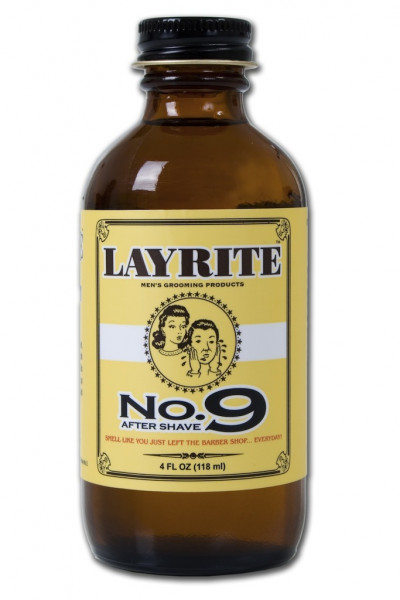 Layrite No. 9 Bay Rum Aftershave, 4 oz Bottle