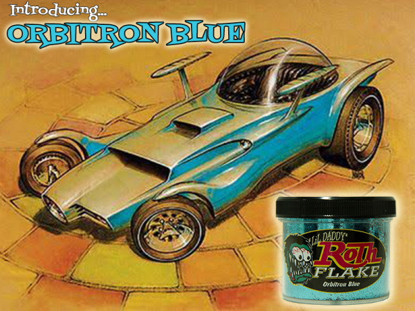 Lil' Daddy Roth Metal Flake Standard .015 Orbitron Blue
